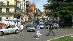 Traffic and tourists in Rocca di Papa Stock Footage