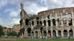 Rome pans coliseum Stock Footage