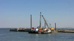 Port works construction Stock Footage