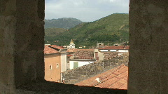 Roof tops of San Agata di Goti in italy Stock Footage