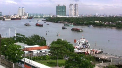 Ho Chi Minh City on the Saigon River  Stock Footage