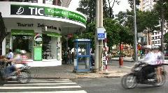 Saigon street corner Stock Footage