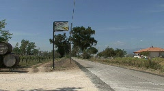 Winery sign by a road in Latium Stock Footage