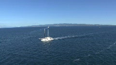 Sailboat in the Adriatic Sea Stock Footage
