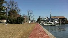Saint Michaels waterfront  Stock Footage