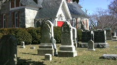 Cemetery in Saint Michaels MD Stock Footage