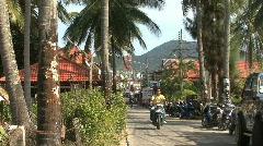 Thai island dirt road Stock Footage