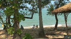 Thailand Kho Samui beach scene Stock Footage