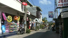 Thailand Kho Samui street with motorscooter Stock Footage