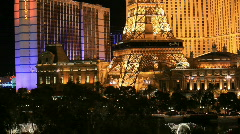 Las Vegas Paris Hotel water show P HD 6856 Stock Footage