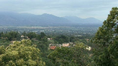 View of the Alban Hills from Velletri Stock Footage