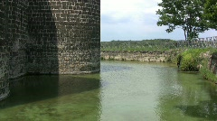 Moat of a castle at Vulci in italy Stock Footage
