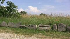 Etrusian archeological site Stock Footage