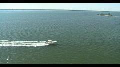 24ft Boat Underway Stock Footage