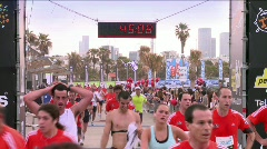 Finishing a marathon 1 Stock Footage