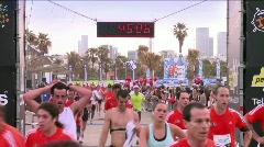 Finishing a marathon 1 - stock footage