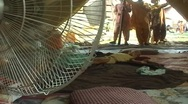 Stock Video Footage of Baby Refugee Sleeping in his tent in Swat, Pakistan