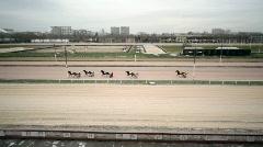 Panorama of hippodrome Stock Footage