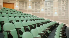 In empty hall for presentations Stock Footage