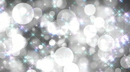 Stock Video Footage of Black-and-white glamour background with multi-coloured particles, vj HD