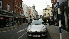 Drogheda Timelapse of an Irish Town 07 Road with shops Stock Footage