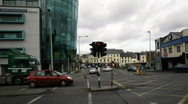 Street Timelapse Irish National Bank Stock Footage