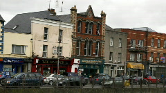 Drogheda Timelapse of an Irish Town 03 Bar on the quay Stock Footage
