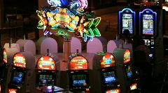 Slot machine casino pan P HD 6977 Stock Footage