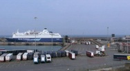 Stock Video Footage of Rosslare Europort 2