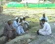 Men Outside Refugee Camp in Swat; Pakistan Footage