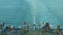 Passengers on a ship deck, on a back part Stock Footage