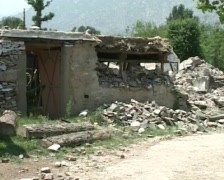 Home destroyed by Terrorists- War On Terror - stock footage