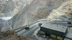 Kennecott open pit mine - stock footage