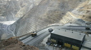 Stock Video Footage of Kennecott open pit mine