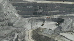 Bottom of pit mine Stock Footage