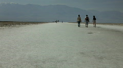 Salt Water Basin on windy day Stock Footage
