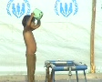 Young Boy Bathing in a Refugee Camp in Swat, Pakistan SD Footage