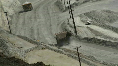 Copper ore mining truck at kennecott Stock Footage