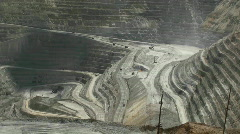 Stock Video Footage of kennecott copper pit mine utah