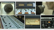 Stock Video Footage of HD Radio Station Broadcaster Collage 1
