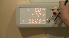 MRI table manual controls - CU Stock Footage