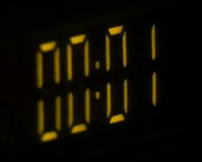 Yellow digital timer - stock footage