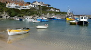 Newquay harbour boats Stock Footage