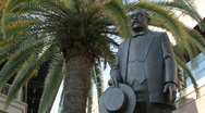 Stock Video Footage of Vincente Ybor Statue MED
