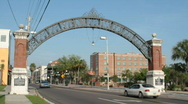Stock Video Footage of Ybor Arch