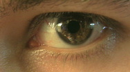 Stock Video Footage of eye close-up