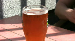 beer and alcohol in bars - stock footage