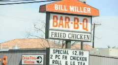Bill miller sign 0554 Stock Footage