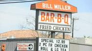 Bill miller sign 0554 Stock Footage