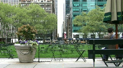 Bryant Park in New York City Stock Footage